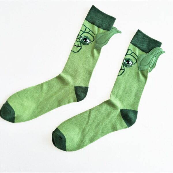 New Arrival Man Socks Star Wars Character Cotton Socks Yoda Grandmaster Seam Male Socks Funny Ears 3D Cartoon Socks Meias Hemp 2