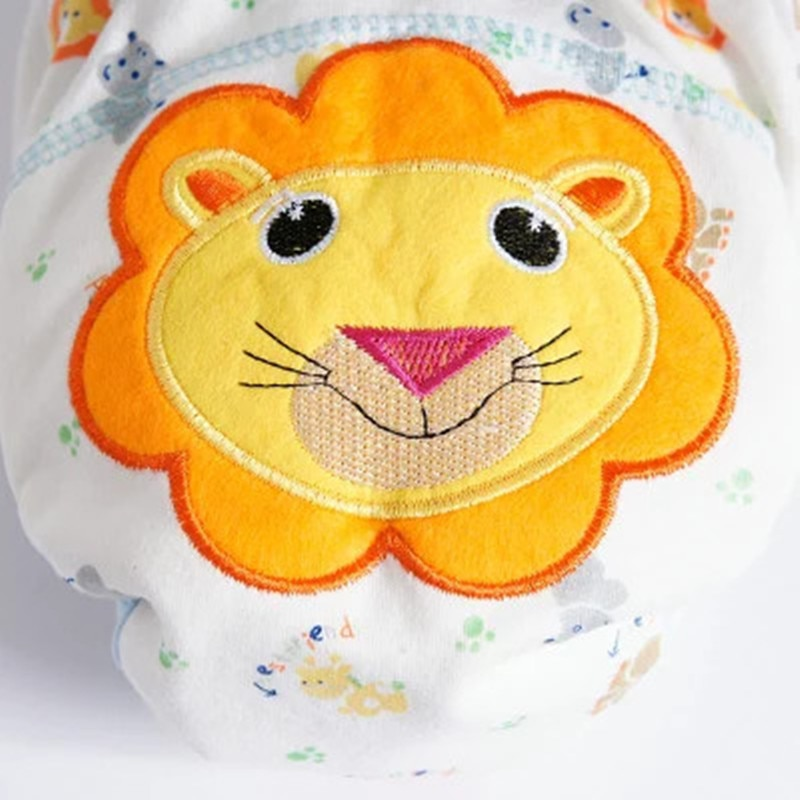 Baby Cotton Training Pants Panties Baby Diapers Reusable Cloth Diaper Nappies Washable Infants Children Underwear Nappy Changing 4