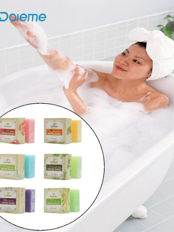 ECO finest 6 Pcs Natural Organic Melt Handmade Hemp Oil Soap Skin Care Revitalizing Scent with Tea Tree Rose Lavender 2
