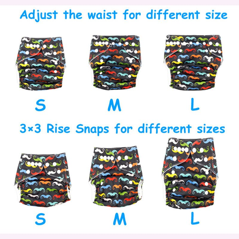 Reusable Baby Diapers Wholesale Organic Eco Friendly Cloth Diapers Teen Baby Boy Cotton Cloth Pants Diaper R14 5