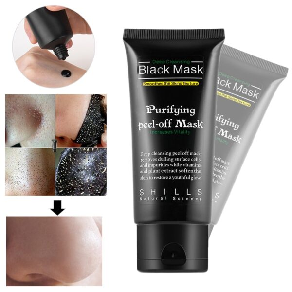 Bamboo Charcoal New Suction Face Deep Cleansing Black Mud Mask Blackhead Remover Peel-Off Mask Easy to Pull Out Blackheads TSLM2 2