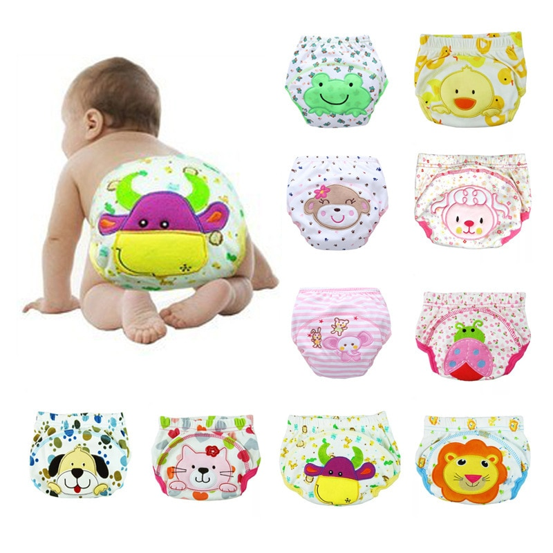 1 pc Cotton new training pants  diapers cloth diaper Cartoon cloth diapers diaper cover 1