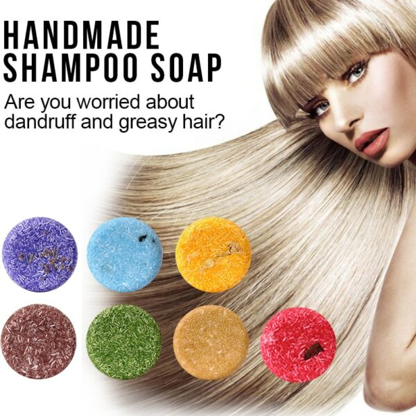 7 types Smell Organic shampoo soap 100% PURE and Vegan refreshing antidandruff and Magical treatment hair mask 60ml 2