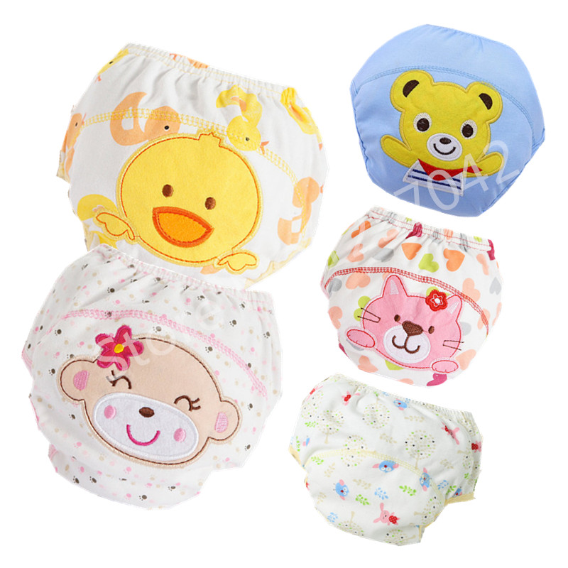 Baby Cotton Training Pants Panties Baby Diapers Reusable Cloth Diaper Nappies Washable Infants Children Underwear Nappy Changing 1