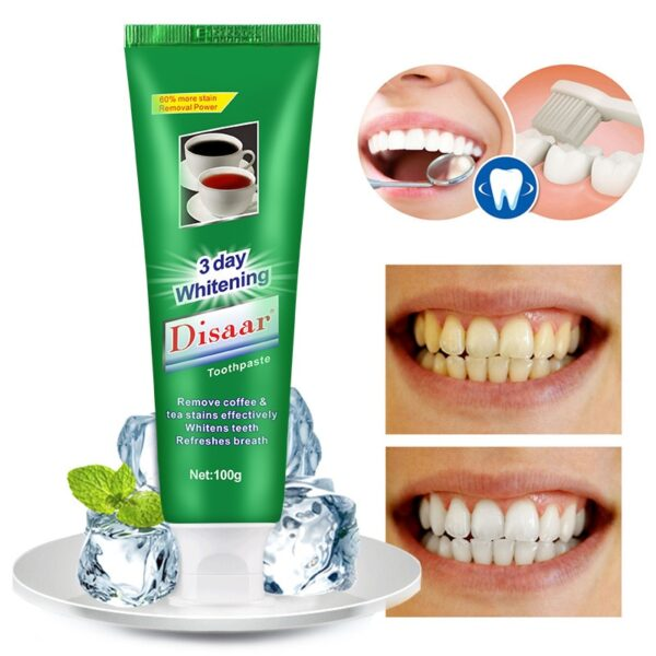 5PCS Mint Toothpaste Oral Care Fresh Breath Tea Stain Coffee Stain Toothpaste Tooth Care Natural Activated Charcoal Whitening 2