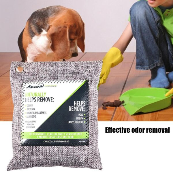 Breathe Green Charcoal Odor Eliminator Bags Activated Bamboo Charcoal Deodorizer Natural Freshener Remove Odor Moisture Car Home 2