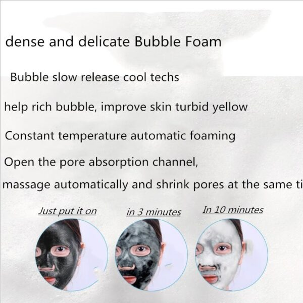 30pcs image beauty amino acid bamboo charcoal breathing bubble cleansing mask hydrating brightening skin tone oxygen foam mask 4
