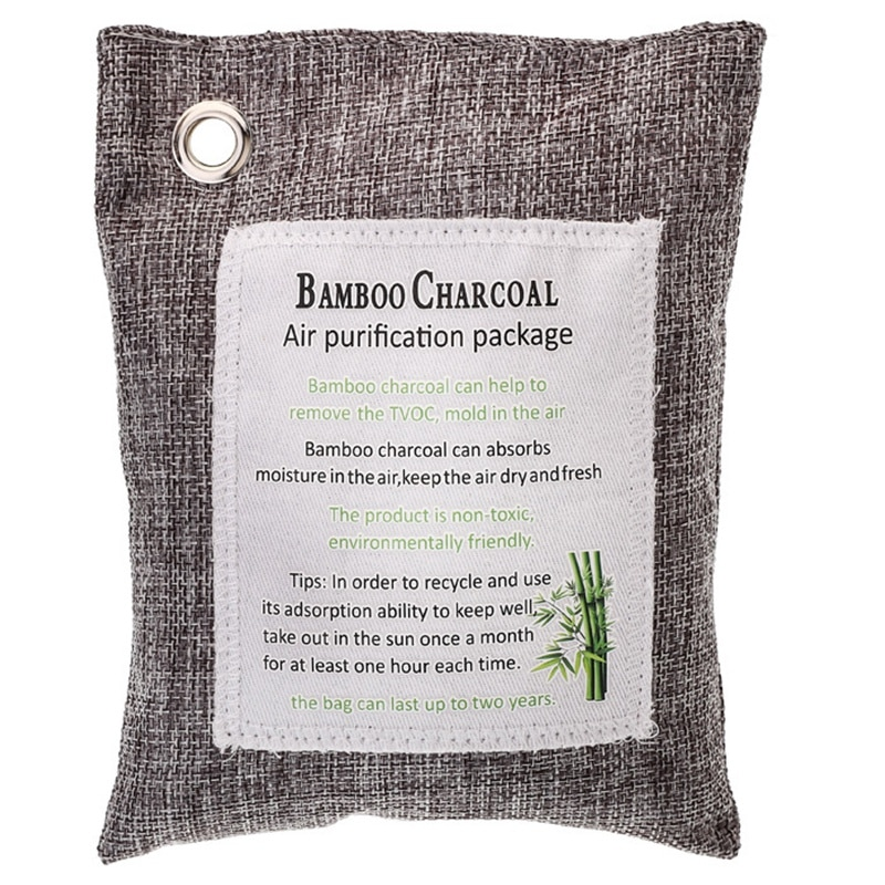 Green Charcoal Odor Eliminator Bags (12-Pack) Activated Bamboo Charcoal Deodorizer Natural Freshener Removes Odor &Moisture Odor 1