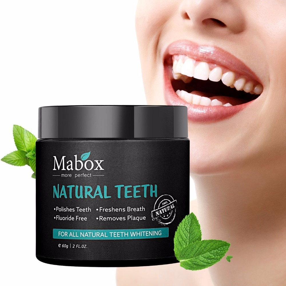 60g Tooth Whitening Powder Activated Coconut Charcoal Natural Teeth Whitening Charcoal Powder Tartar Stain Removal 1