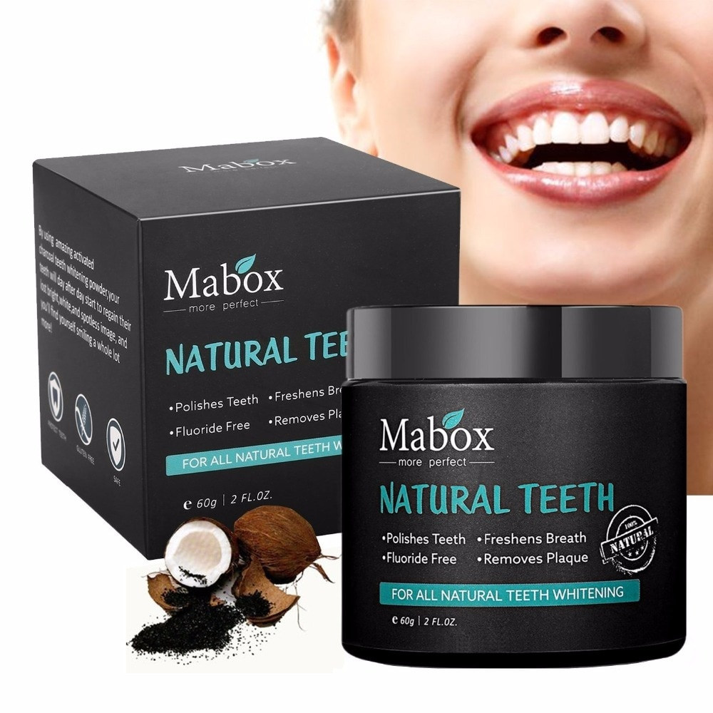 60g Tooth Whitening Powder Activated Coconut Charcoal Natural Teeth Whitening Charcoal Powder Tartar Stain Removal 5