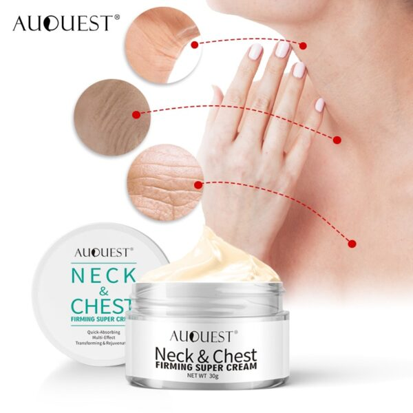 AuQuest Face & Neck Firming Cream Skin Lifting Wrinkle Removal Cream Woman Beauty Face Cream Skin Care 4