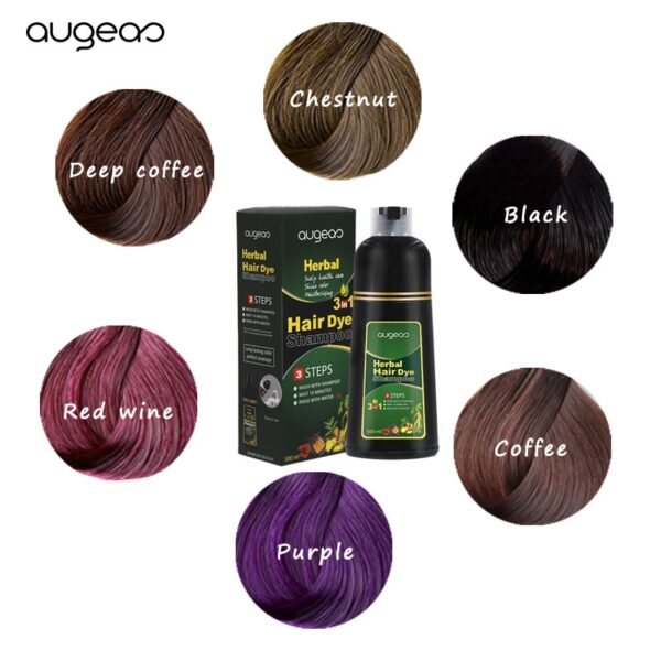 500ml Organic Natural Fast Hair Dye Only 5 Minutes Noni Plant Essence Black Hair Color Dye Shampoo for Cover Gray White Hair 5